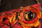 Geanta tricotata – rosie – flori