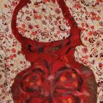 Geanta handmade – amfora – ( fetru manual)