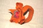 Bratara handmade – fetru – maron- portocaliu