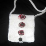 Geanta tricotata – posetuta – semnul exclamarii